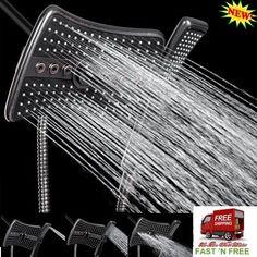 3 Way 4 Setting Shower Head Antique Bronze 9 Inch Waterfall Mist Massage Jets AB #AKDY