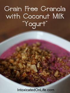 Grain Free Granola with Coconut Milk Yogurt