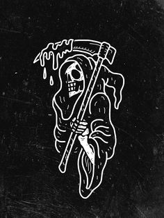 "Darkness Will Consume You on Behance ""Living the Dream"" tatted on the left of my chest? Reaper Drawing, Grim Reaper Tattoo, Grim Reaper Art, Skeleton Art, Skeleton Drawings, Arte Obscura, Tatuagem Old School, Dark Wallpaper, Skull Wallpaper"