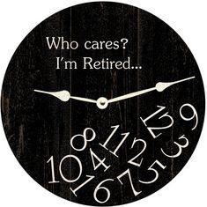 Who Cares Clock-Personalized Clock Personalized Clocks, Classic Clocks, Ohio, Quartz Clock Movements, Clock Parts, Who Cares, Diy Clock, Wood Clocks, Large Clock