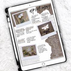 Bullet Journal Books, Bullet Journal Inspo, Bullet Journal Layout, Book Journal, Journal Ideas, Digital Journal, Apps, Tablet, Ipad Art
