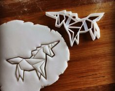 Origami Unicorn cookie cutter | biscuits cutters | awesome freedom | one of a kind ooak