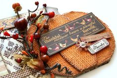 """""""Thankful"""" Fall Mini Book with GoGo Girl Scrapbooking! Mini Scrapbook Albums, Scrapbook Paper Crafts, Mini Albums, Pocket Scrapbooking, Paper Crafting, Burlap Pumpkins, Smash Book Pages, Thanksgiving Projects, Mini Album Tutorial"""