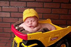Baby Construction Hard Hat by meandmorningglory on Etsy, $22.00
