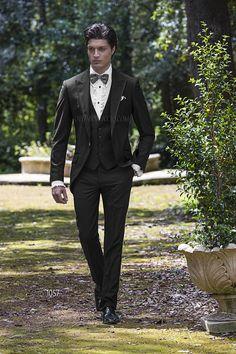 Vestiti eleganti da uomo · Abito da cerimonia uomo Demi-Tight in misto  poliestere viscosa nero Abito Da Matrimonio Nero 492f9d679f8