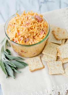 Did you know the type of feed given to a hen directly effects the color of the yolk? Hence why some yolks are bright yellow, and some have more orangey yolks. Bree is to credit for this fun fact, as well as for this fantastic Pimento Cheese recipe off of her site: http://bakedbree.com/