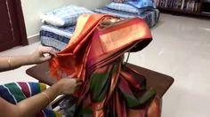 How to tie saree to varalakshmi goddess