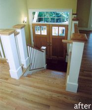 Excellent split foyer entry remodel. This could actually work for our house.