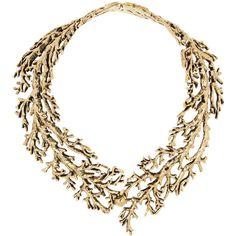 Aurélie Bidermann Aphrodite gold-plated tree branch necklace via Polyvore