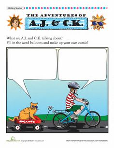 """""""What did you do today?"""" Help your student develop dialogue writing skills with these fun comics and worksheets. Practice using punctuation that will set speech apart from other words."""