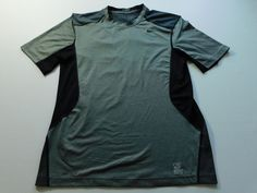 Nike Pro COmbat Mens Fitted T Shirt Gray Size Medium M Short Sleeve Fitness Gym #Nike #BaseLayers