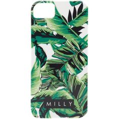 Milly Banana Leaf Print iPhone 5 Case ❤ liked on Polyvore featuring accessories, tech accessories, fillers, phone, electronics, phone case and leaf