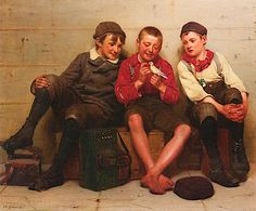 """A Great Find,"" 1894 -- by John George Brown (American, 1831–1913)"