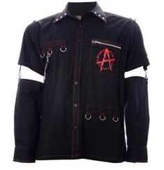 Attitude Clothing - Alternative, Gothic, Punk, Rock Clothing, Shoes, Brands + Accessories - Dead Threads Anarcho Punk Men's Shirt