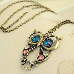GET $50 NOW   Join RoseGal: Get YOUR $50 NOW!http://m.rosegal.com/necklaces/retro-fashion-style-openwork-owl-67131.html?seid=7179977rg67131