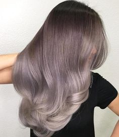 color asian trends ideas for color asian trends ideas for 2019 Ideas for hair color highlights gray silver foxes Silver Hair Ideas Ash Purple Hair, Ash Gray Hair Color, Grey Blonde Hair, Grey Ombre Hair, Hair Color Asian, Cool Hair Color, Silver Ombre, Violet Hair, Blonde Ombre