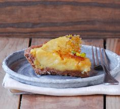 Apple creme brulee tart - Tarta de creme brulee de manzana