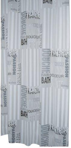 Ridder 303120 Shower Curtain 180 X 200 Cm Text