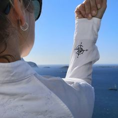 Embroider a compass on your sleeve and you'll never be lost. Latin Words, Green Business, Seafarer, Oslo, Sustainable Fashion, Compass Symbol, Photo And Video, Tattoo, Times