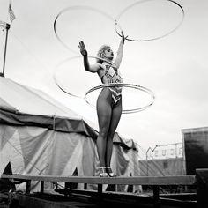 Slavi the Hoop Girl, Courtney Bros Circus, Wexford - Andrew Shaylor