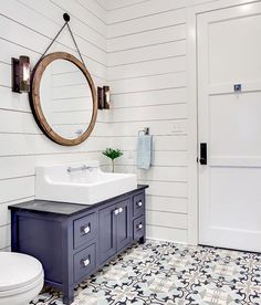 Our hostess gift guide is up on the blog!! Shiplap + cement tile combo!   @cementtileshop