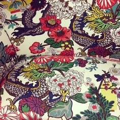 Double dragons!! #reupholstery @Schumacher — Fabric Wallcovering Trimming Furnishing