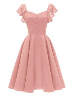 LaceShe Elegantes Cocktail-Spitzenkleid in A-Linie für Damen LaceShe Elegant cocktail lace dress in A-line for women Source by Elegant Dresses, Pretty Dresses, Women's Dresses, Vintage Dresses, Beautiful Dresses, Dress Outfits, Short Dresses, Fashion Dresses, Summer Dresses