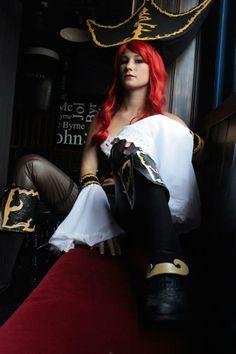 La cosplayeuse Ecila Neko en Miss Fortune de League of Legends  Découvrez sa page : https://www.facebook.com/EcilaNekoCosplay