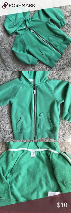EUC Aqua Colored Zip Up Hoodie Carter's zip up hoodies size 18mo. In excellent condition, barely used.  Matches the First birthday onesie too! 🚫no trades Carter's Shirts & Tops Sweatshirts & Hoodies