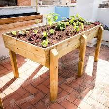 como hacer mesas de madera para cultivo huertos - Buscar con Google