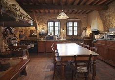This kitchen has so much character, plus large table for dining