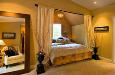 Decorating Bedroom Ideas ~ Sweet Romantic Bedroom Colors - Tuscan Inspired - Click Pic for 42 Romantic Master Bedroom Decor Ideas Romantic Bedroom Colors, Romantic Master Bedroom, Stylish Bedroom, Master Bedroom Design, Home Bedroom, Modern Bedroom, Bedroom Decor, Romantic Bedrooms, Bedroom Furniture
