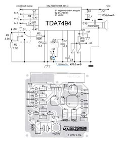 TDA7494 — УМЗЧ с электронным регулированием громкости  | rcl-radio.ru