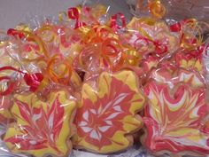 Marbled Fall leaf sugar cookies by MerciBeauCookies.blogspot.com