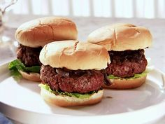 Ale House Burgers with Red Onion Compote recipe from Sandra Lee via Food Network