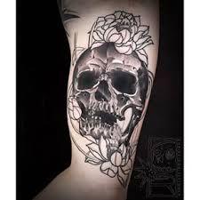 Resultado de imagen para skull and lotus tattoo