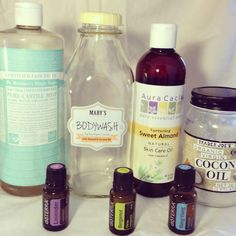 DIY Natural Moisturizing Body wash: Castile Soap, Almond Oil, Coconut Oil, Essential Oils (quart size recipe) and using only young living oils of course! Essential Oil Uses, Young Living Essential Oils, Savon Soap, Diy Lotion, Homemade Beauty Products, Natural Products, Body Products, Coconut Products, Living Oils