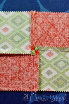 Reduce bulk at intersecting patchwork seams.
