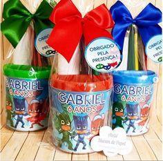 Festa Pj Masks, Mini Pinatas, Bottle, Birthday, Party, Kids, Transformers, Gabriel, Instagram