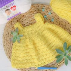 Simply Spring Crochet Baby Dress: Months - Winding Road Crochet This free baby dress crochet pattern is designed to be quick and simple to create for the beginner or expert crocheters alike. The pattern comes in size newborn through 18 months. Crochet Baby Dress Free Pattern, Crochet Baby Blanket Beginner, Baby Dress Patterns, Crochet Baby Clothes, Crochet Baby Shoes, Newborn Crochet, Skirt Patterns, Crochet Dresses, Crochet Baby Dresses