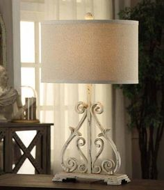 Arvin Table Lamp - Table Lamp - Accent Lamp - Living Room Lamps - Table Lamp With Drum Shade - Decorative Lamps | HomeDecorators.com