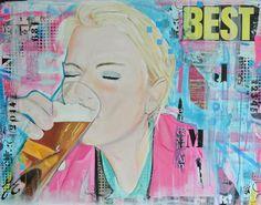 Portret op canvas 60x90cm door Janet Edens http://janetedens.nl/portretten/