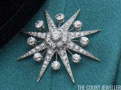 A close view of the Jardine Star Diamond Brooch which has been in Queen Elizabeth's collection since the