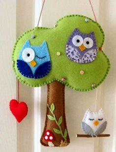 Super dzieciaczki: Sowy - dekoracje do pokoju dziecięcego.