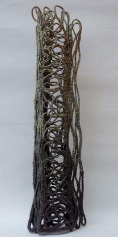 concepts, forms, materials, techniques, and processes related to basketry Textile Fiber Art, Textile Artists, Geometric Fashion, Pochette Album, Organic Art, Textiles Techniques, Weaving Textiles, Vases, Art Courses