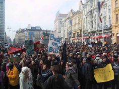 In Zagreb, Croatia, a surprising came out, with marches also taking place in other Croatian cities. Zagreb Croatia, Cities, Washington, February, War, Washington State, City