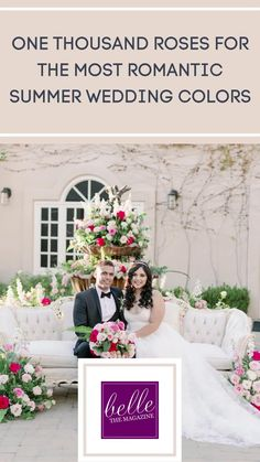 One Thousand Roses for the most Romantic Summer Wedding Colors | Fairytale Wedding Inspo with Every Shade of Pink - Belle The Magazine | wedding flowers | wedding floral installation | wedding ceremony | wedding reception | romantic wedding photos | romantic wedding | spring wedding | summer wedding | fresh wedding inspiration Summer Wedding Colors, Spring Wedding, Dream Wedding, Summer Weddings, Fairytale Bridal, Fairytale Weddings, Romantic Wedding Photos, Most Romantic, Floral Wedding