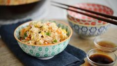 Egg fried rice  Easy, easy and disgustingly yummy food! I love to make this when I don't feel like cooking a serious meal! It's filling, smells so good; tastes really good too!