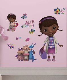 Look at this Doc McStuffins Giant Peel & Stick Decal Set on #zulily today!