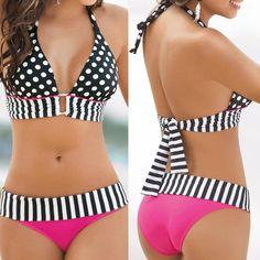 Sexy Para mujeres Conjunto de Bikini Push-Up acolchado Sujetador vendaje traje de baño traje de baño ropa de playa